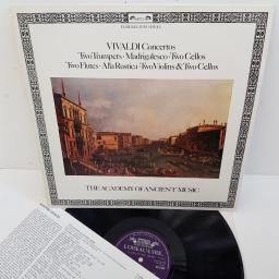 "Antonio Vivaldi, Christopher Hogwood, The Academy Of Ancient Music ‎– Concertos: Two Trumpets, Madrigalesco, Two Cellos, Two Flutes, Alla Rustica, Two Violins & Two Cellos, DSLO 544, 12"" LP"