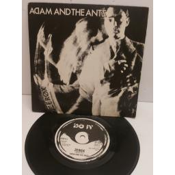 ADAM AND THE ANTS zerox, whip in my valise. 7 inch picture sleeve. DUN8