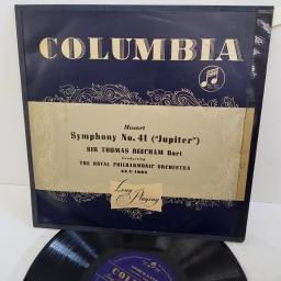 "MOZART, SIR THOMAS BEECHAM, THE ROYAL PHILHARMONIC ORCHESTRA, symphony no. 41 (""jupiter""), 33 C 1002, 10"" LP"