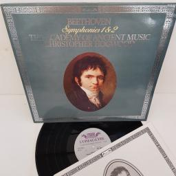"Beethoven - The Academy Of Ancient Music, Christopher Hogwood ‎– Symphonies 1 & 2, 414 338-1, 12"" LP"