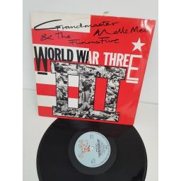 "GRANDMASTER MELLE MEL, world war III, SHL 143, 12"" single"