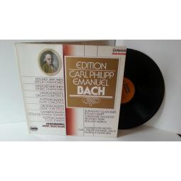 CARL PHILIPP EMANUEL BACH music examples, gatefold, C 12 427