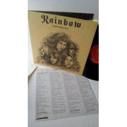 RAINBOW long live rock n roll, gatefold, POLD 5002, lyric insert