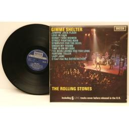 THE ROLLING STONES, Gimme shelter Boxed silver decca on dark blue label. Grea...