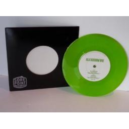 SOLD Description: ALEXISONFIRE accidents, 7 inch single, green vinyl