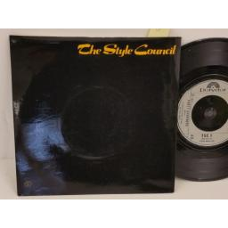 THE STYLE COUNCIL speak like a child, PICTURE SLEEVE, 7 inch single, TSC1
