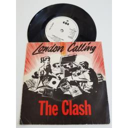 "THE CLASH london calling/ armagideon time, CBS 8087, 7"" single"