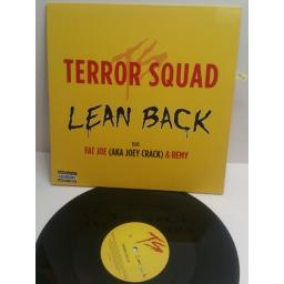 "TERROR SQUAD lean back featuring FAT JOE & REMY 986417-7. 12"" SINGLE"