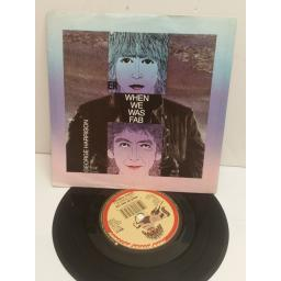 GEORGE HARRISON when we was fab, zig zag. 7 inch picture disc. W8131