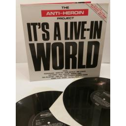 THE ANTI-HEROIN PROJECT, it's a live-in world, AHP LP 1