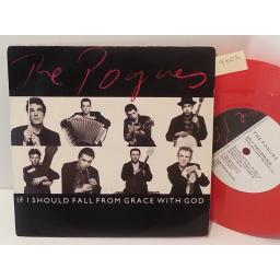 "THE POGUES if i should fall from grace with god, 7"" single, red vinyl, FG 1."