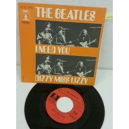 THE BEATLES i need you / dizzy miss lizzy, 7 inch single, 2C 006 04455