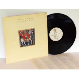 PAUL SIMON, Graceland. WX52. Embossed sleeve.