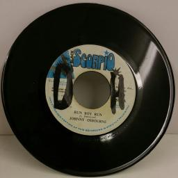 JOHNNY OSBOURNE run boy run, 7 inch single