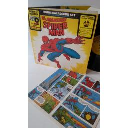 the amazing spiderman, book and record set, gatefold sleeve with centre attached booklet, BR 516
