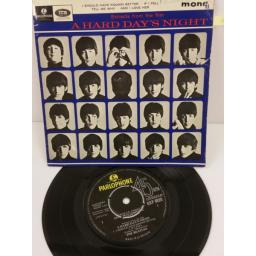 THE BEATLES extracts from the film a hard day's night, 7 inch single, GEP 8920