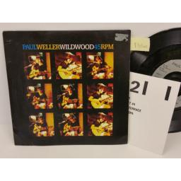 PAUL WELLER wild wood, PICTURE SLEEVE, 7 inch single, GOD 104