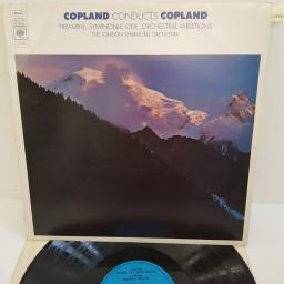 "Aaron Copland, The London Symphony Orchestra ‎– Copland Conducts Copland - Symphonic Ode; Preamble For A Solemn Occasion; Orchestral Variations, 73116, 12"" LP"