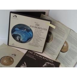 MOZART, PITZ, PHILHARMONIA ORCHERSTRA AND CHORUS, OTTO KLEMPERER die zauberflote, AN 137-8-9, 3 x vinyl boxset and libretto