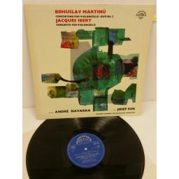 BOHUSKAV MARTINU, JACQUES IBERT, ANDRE NAVARRA, JOSEF SUK, MARTIN TURNOVSKY concertino for violoncello / duo no. 2 / concerto for violoncello, 50877