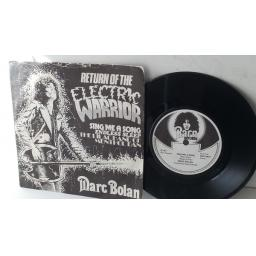 "MARC BOLAN return of the electric warrior, OFFICAL FAN CLUB PICTURE SLEEVE 7"" single, MBFS 001"