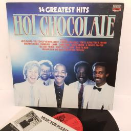 "HOT CHOCOLATE, 14 greatest hits, MFP 5801, 12"" LP"