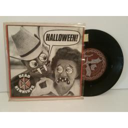 SOLD : DEAD KENNEDYS halloween! Saturday night holocaust. 7 inch picture sleeve. STAT27