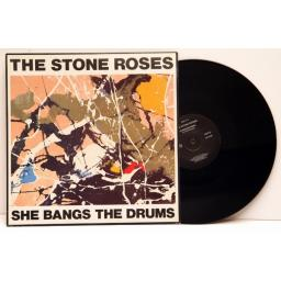 THE STONE ROSES, she bangs the drum.