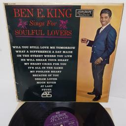 "BEN E. KING, ben e. king sings for soulful lovers, HA-K 8026, 12"" LP, mono"