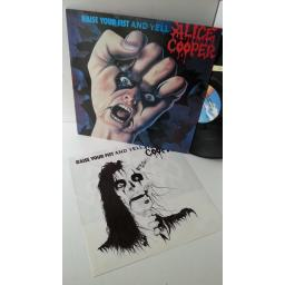 ALICE COOPER raise your fist and yell, MCF 3392, track list insert