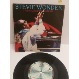 "STEVIE WONDER I just called to say I love you TMG1349. 7"" PICTURE SLEEVE SINGLE"