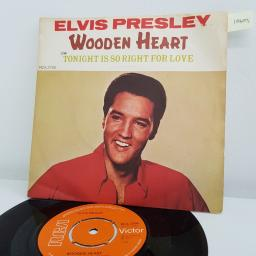 "ELVIS PRESLEY, wooden heart, B side tonight is so right for love, RCA 2700, 7"" single"