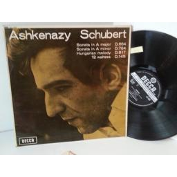 ASHKENAZY, SCHUBERT piano works, sonata in A major, sonata in A minor, hungarian melody, 12 waltzes, SXL 6260