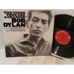 BOB DYLAN the times they are a changin', LP 5108, lyric insert