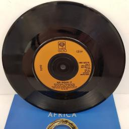 "TOTO, africa, B side we made it, A 2510, 7"" single"