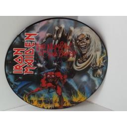 IRON MAIDEN the number of the beast, picture disc,SEAX 12215