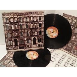 "LED ZEPPELIN, physical graffiti. SSK89400. DIE CUT GIMMICK SLEEVE. First UK pressing 1975, matrix A1,B5,C1,D1, ""484 Kings Rd"" on sleeve"