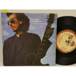 GEORGE HARRISON got my mind set on you, PICTURE SLEEVE, 7 inch single, W8178