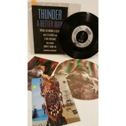 THUNDER a better man, 7 inch single, limited edition 3D sleeve, 2 postcards, BETTER1