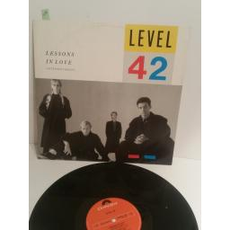 "LEVEL 42 lessons in love EXTENDED VERSION POSPX790 12"" 3 TRACK SINGLE"