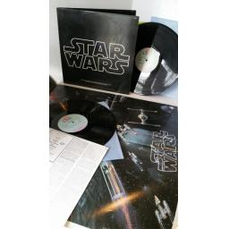 JOHN WILLIAMS , THE LONDON SYMPHONY ORCHESTRA star wars, 2 x lp, gatefold, poster, 2T 541