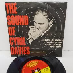 "CYRIL DAVIES AND HIS RHYTHM & BLUES ALL STARS, the sound of cyril davies, NEP 44025, 7"" EP, mono"