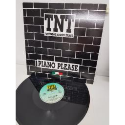 "T.N.T., piano please, B side new generation, EVR MX01, 12"" single"