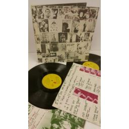 ROLLING STONES exile on main st, 2 x lp, gatefold, no postcards, COC 69100