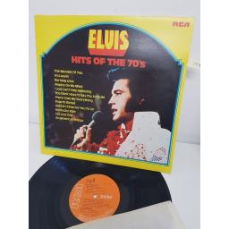 "ELVIS PRESLEY, hits of the 70s, LPL1 7527, 12"" LP"