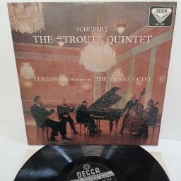 "Schubert, Curzon With Members Of The Vienna Octet ‎– The ""Trout"" Quintet, SXL 2110, 12"" LP"