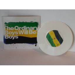 ORDINARY BOYS boys will be boys, 7 inch single, white vinyl