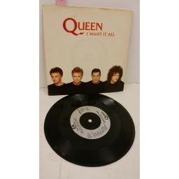 QUEEN i want it all, 7 inch single, QUEEN 10