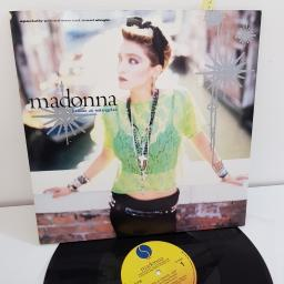"MADONNA, like a virgin, 12"" TWO CUT MAXI SINGLE, (SIDE A like a virgin, SIDE B stay) 92 02390"
