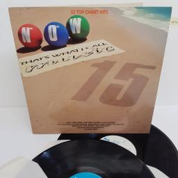 "NOW THAT'S WHAT I CALL MUSIC 15, NOW 15, 2x12"" LP, compilation"